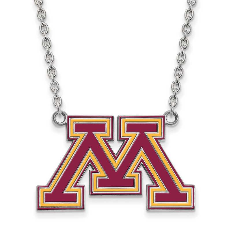 SS032UMN-18: SS LogoArt U of Minnesota LG Enamel Pendant w/Necklace