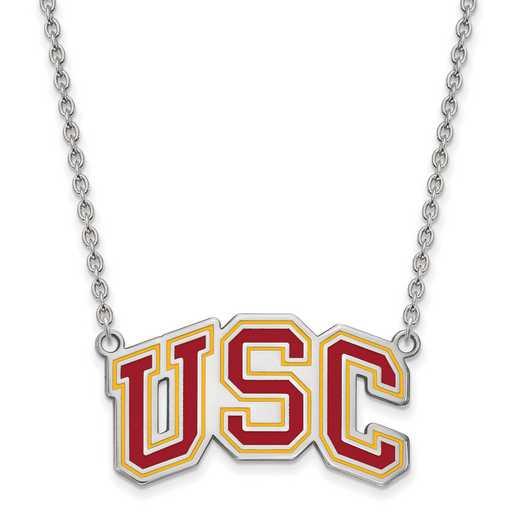 SS033USC-18: SS Univ of Southern California LG Pendant w/ Necklace