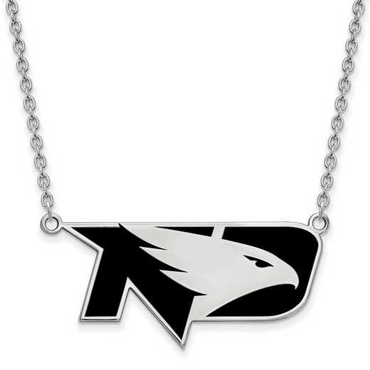 SS036UNOD-18: SS LogoArt U of North Dakota LG Enamel Pendant w/Necklace