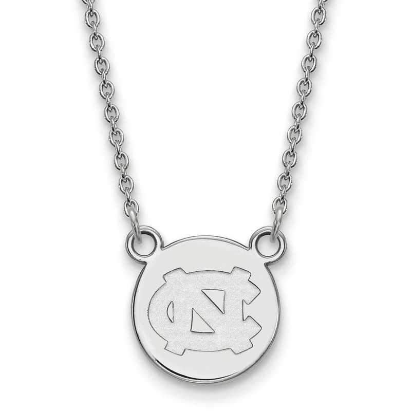 SS038UNC-18: SS LogoArt Univ of North Carolina Small Disc w/Necklace