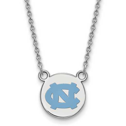 SS039UNC-18: SS LogoArt U of North Carolina Sm Enl Disc w/Necklace