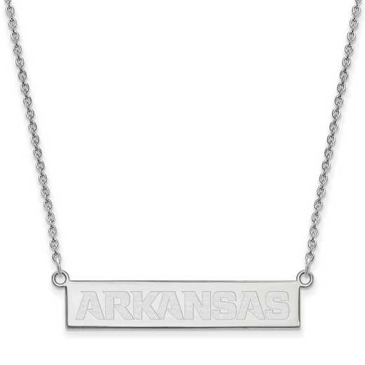 SS044UAR-18: SS LogoArt Univ of Arkansas Fayetteville SML Bar Necklace