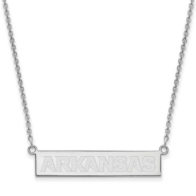 SS044UAR-18: SS LogoArt Univ of Arkansas Fayetteville SML Bar Necklace