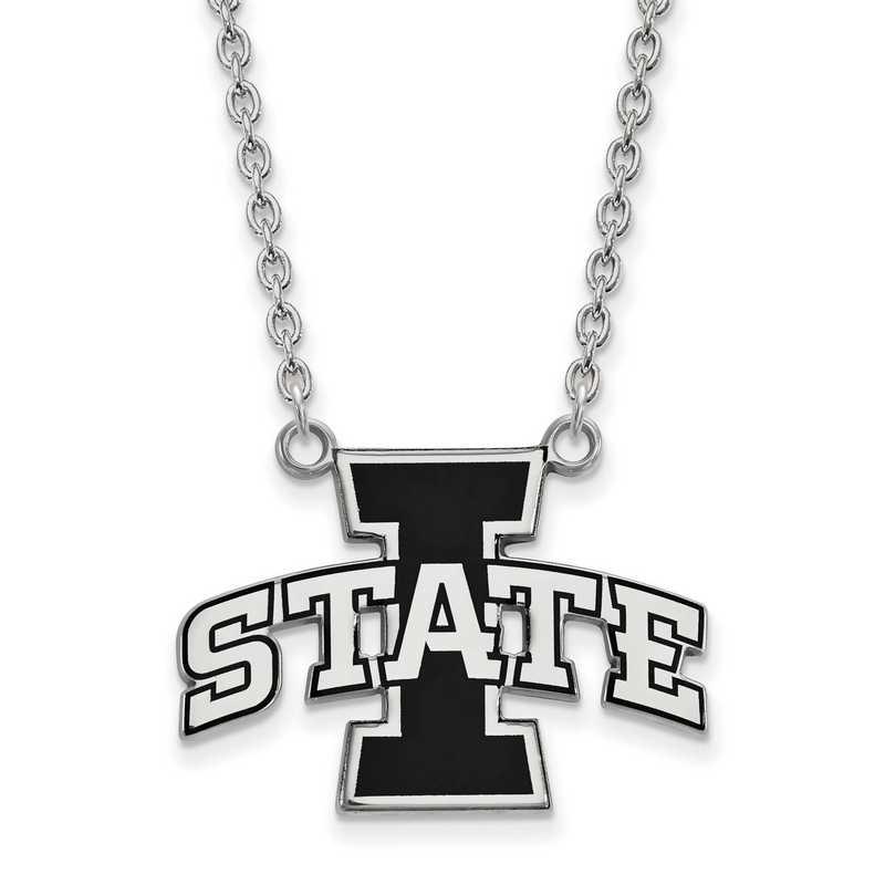 SS045IAS-18: SS LogoArt Iowa St Univ Lg Enamel Pendant w/Necklace