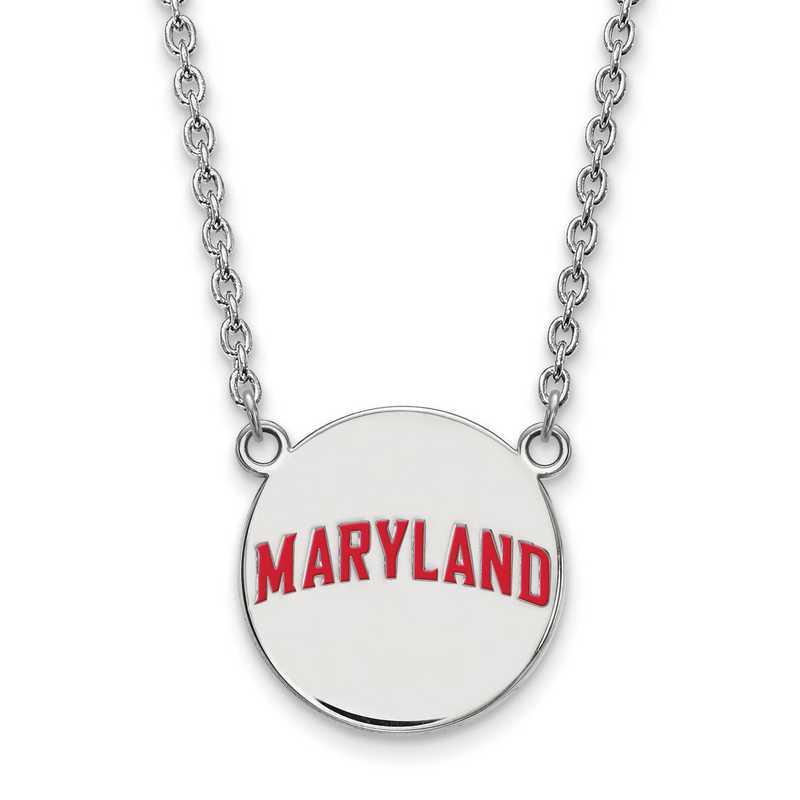 SS046UMD-18: SS LogoArt Maryland LG Enamel Disc Necklace