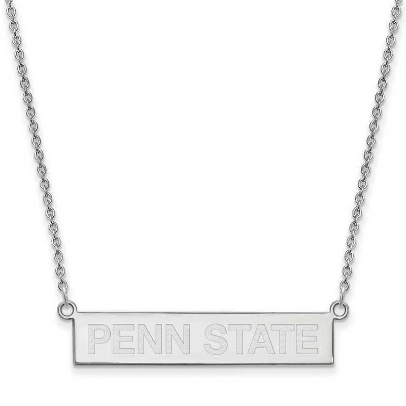 SS047PSU-18: SS LogoArt The Pennsylvania St U SML Bar Necklace