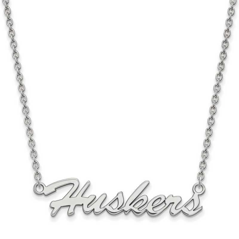 SS048UNE-18: SS LogoArt Univ of Nebraska Medium Pendant w/Necklace