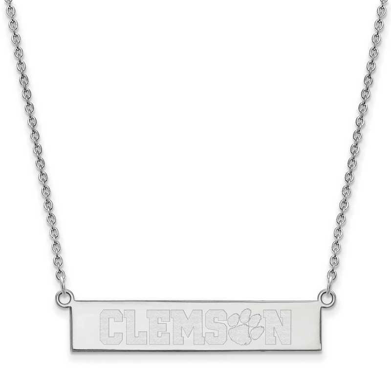 SS049CU-18: SS LogoArt Clemson Univ SML Bar Necklace