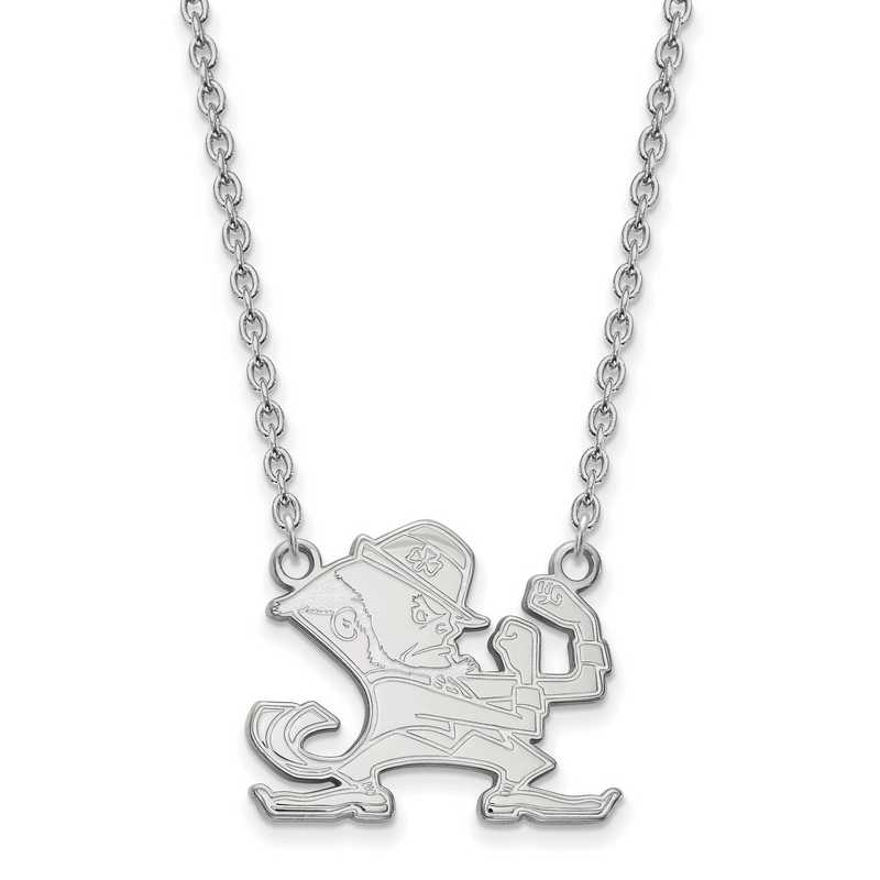 SS058UND-18: SS LogoArt Univ of Notre Dame LG Pendant Necklace