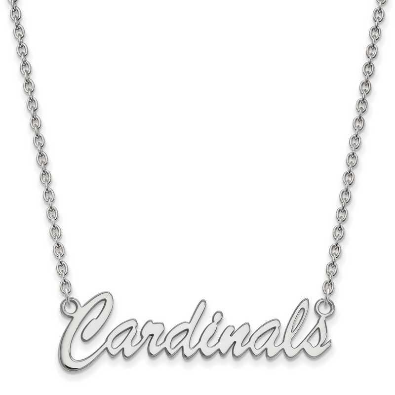 SS067UL-18: SS LogoArt Univ of Louisville Medium Pendant w/Necklace