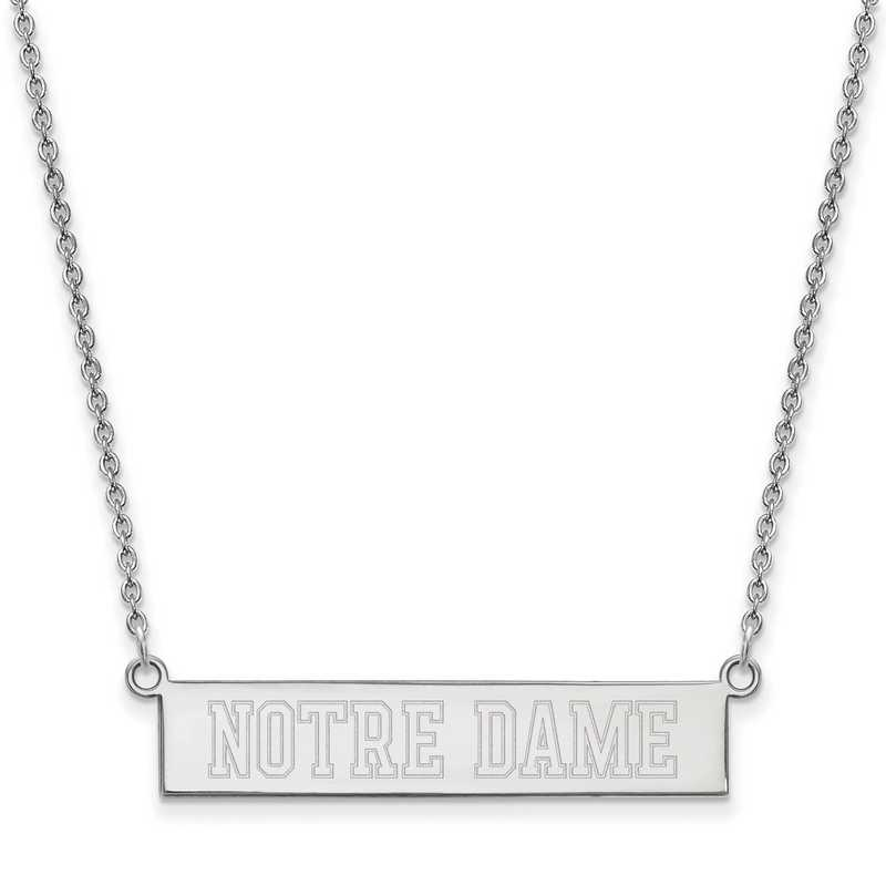 SS071UND-18: SS LogoArt Univ of Notre Dame SML Bar Necklace