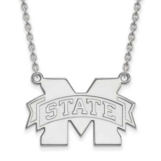 SS074MSS-18: SS LogoArt Mississippi St U LG Enamel Pendant w/Necklace