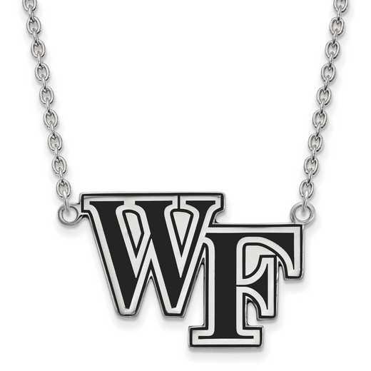 SS079WFU-18: SS LogoArt Wake Forest U LG Enamel Pendant w/Necklace