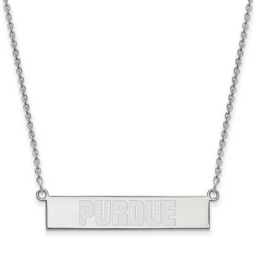 SS082PU-18: SS LogoArt Purdue Univ SML Bar Necklace