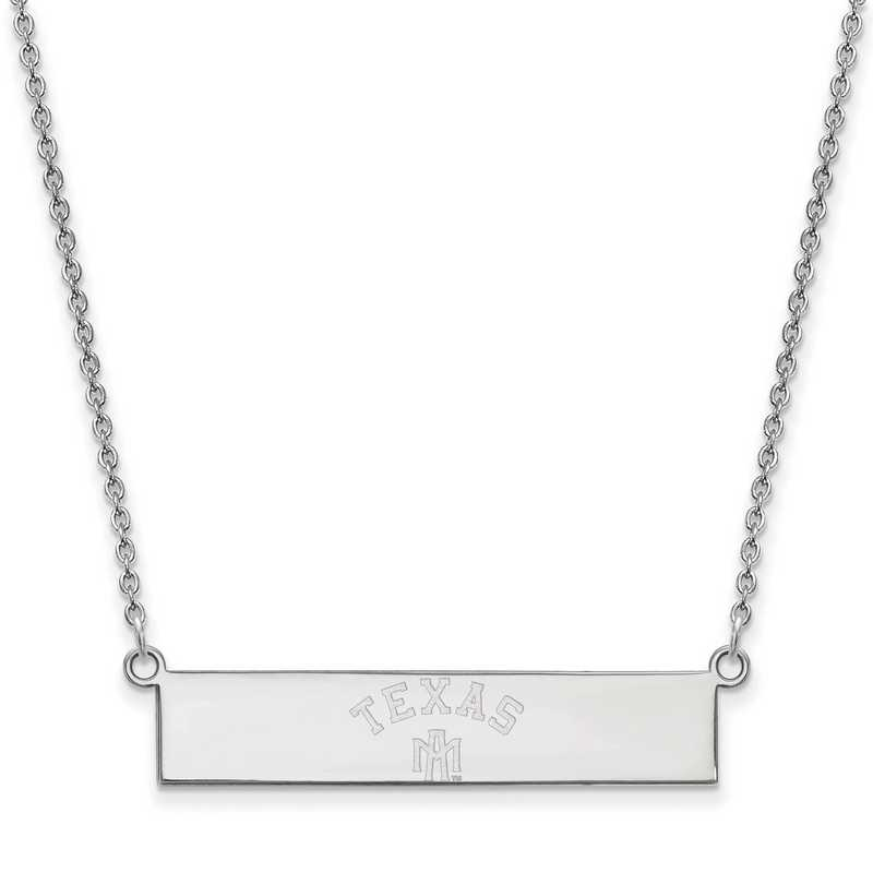 SS082TAM-18: SS LogoArt Texas A&M Univ SML Bar Necklace