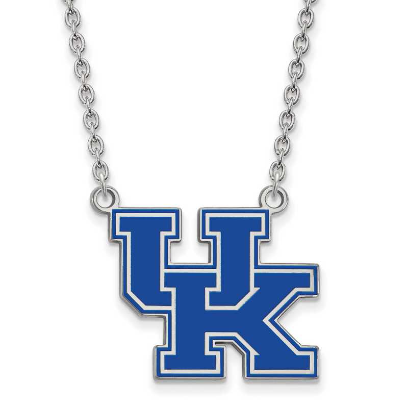 SS082UK-18: SS LogoArt U of Kentucky LG Enamel Pendant w/Necklace