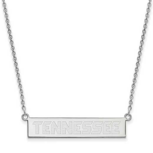 SS082UTN-18: SS LogoArt Univ of Tennessee Knoxville SML Bar Necklace