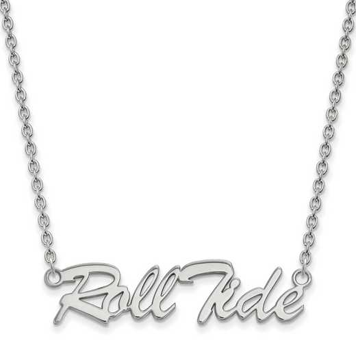 SS083UAL-18: SS LogoArt Univ of Alabama LG Pendant w/Necklace