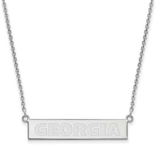 SS084UGA-18: SS LogoArt Univ of Georgia SML Bar Necklace