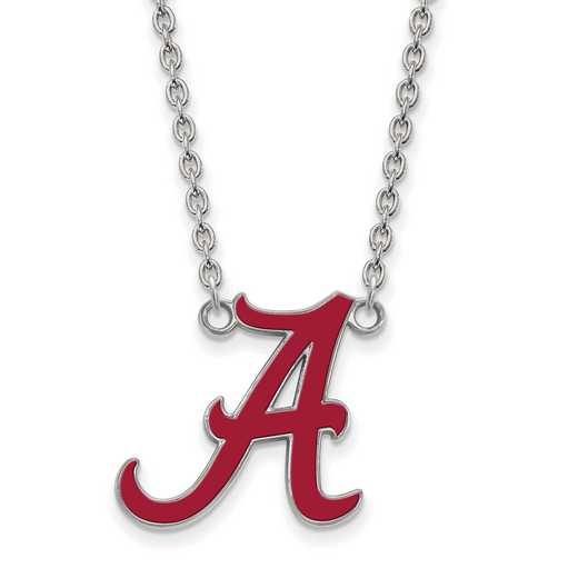 SS090UAL-18: SS LogoArt Univ of Alabama LG Enl Pend. w/Necklace