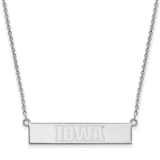 SS091UIA-18: SS LogoArt Univ of Iowa SML Bar Necklace