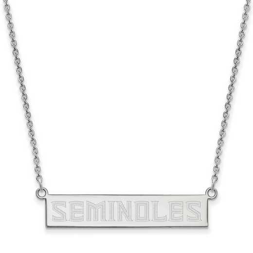 SS094FSU-18: SS LogoArt Florida St Univ SML Bar Necklace