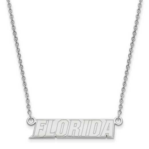 SS094UFL-18: SS LogoArt Univ of Florida SML Pendant w/ Necklace