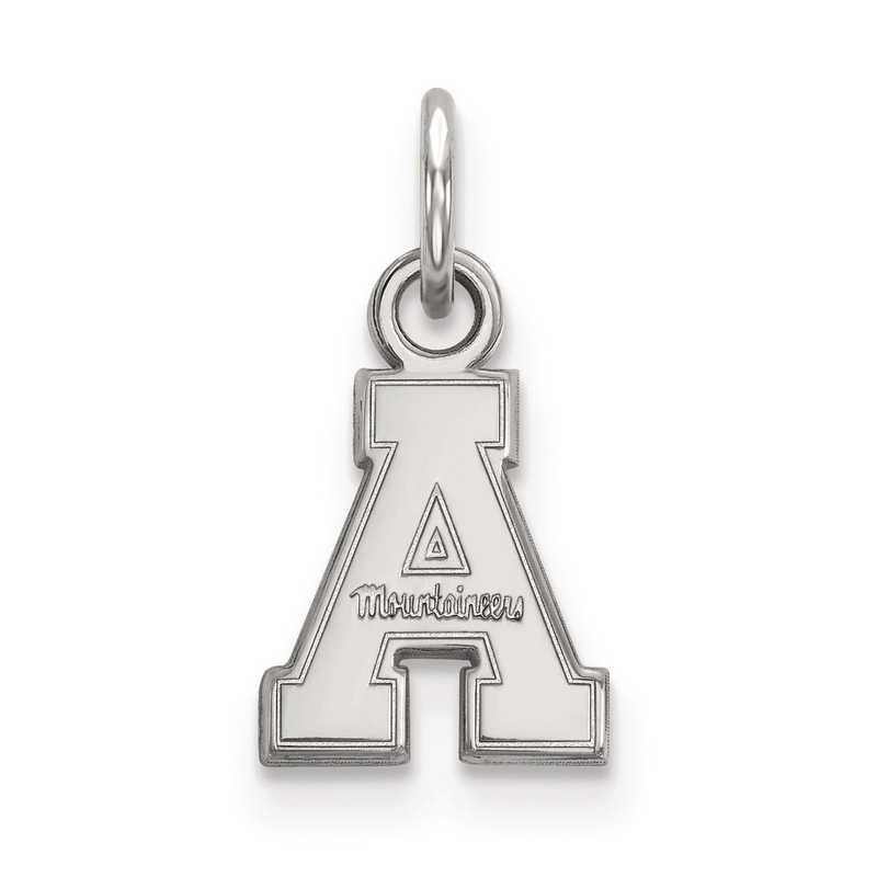 SS001APS: SS LogoArt Appalachian State University XS Pendant