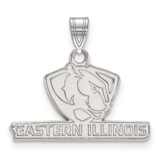 SS001EIU: SS LogoArt Eastern Illinois University Small Pendant
