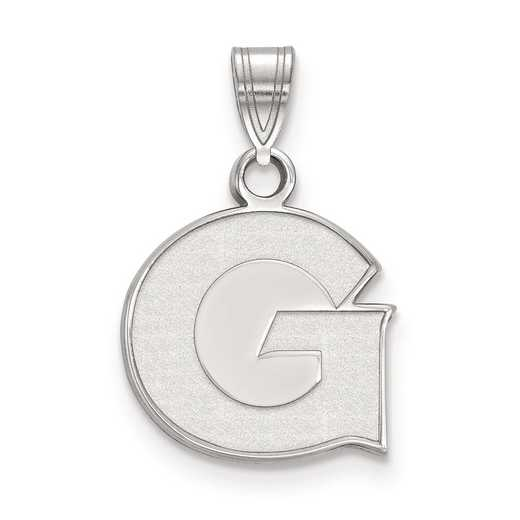 SS001GC: SS LogoArt Georgetown University Small Pendant