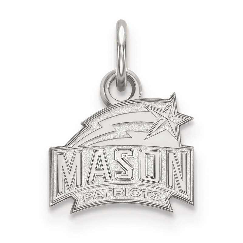 SS001GMU: SS LogoArt George Mason University XS Pendant