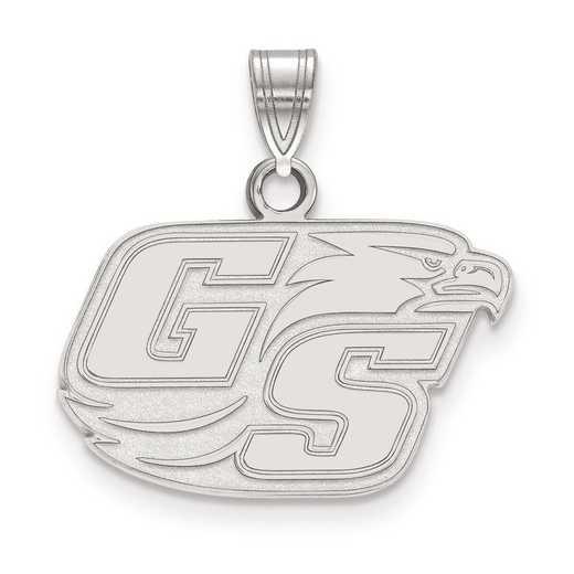 SS001GSU: SS LogoArt Georgia Southern University Small Pendant