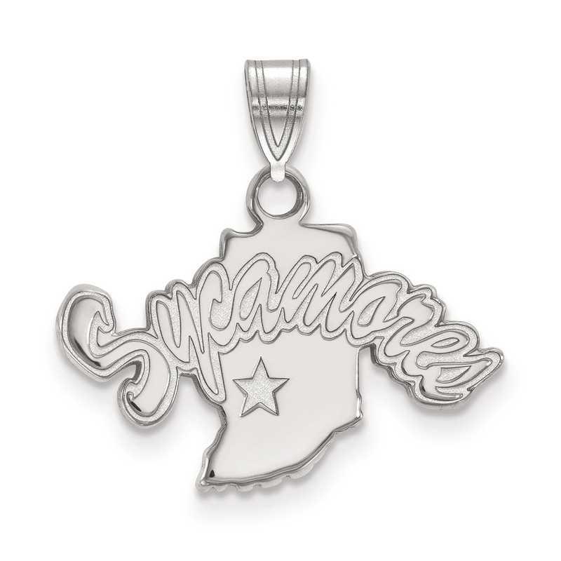 SS001ISU: SS LogoArt Indiana State University Small Pendant