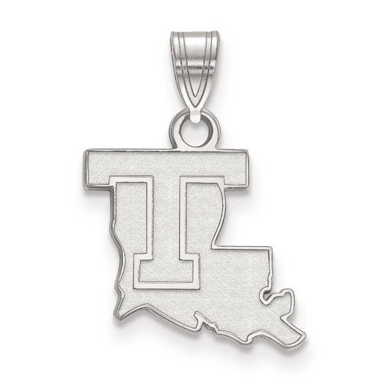 SS001LTU: SS LogoArt Louisiana Tech University Small Pendant
