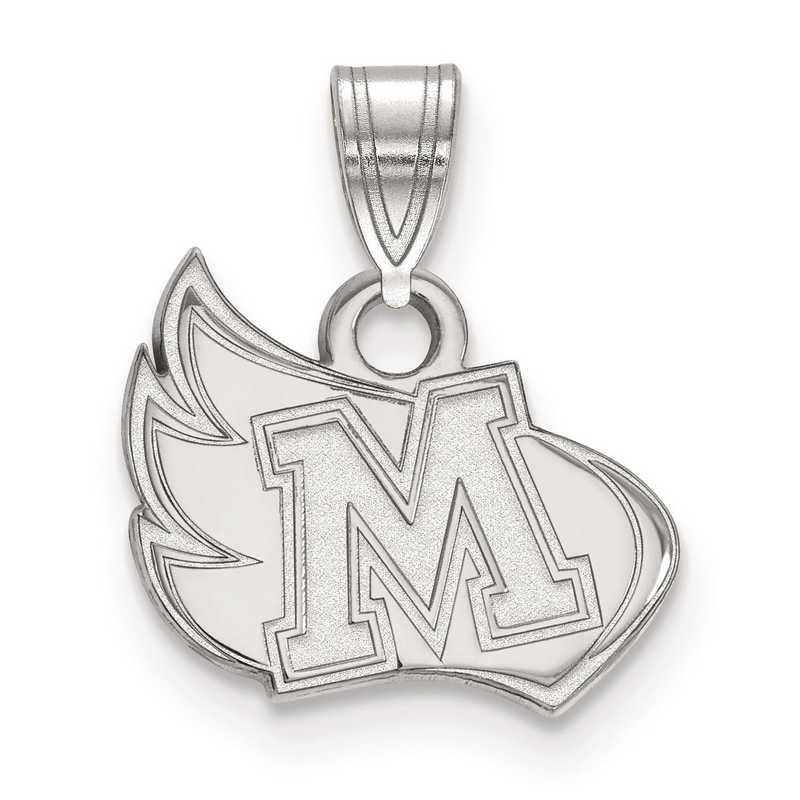 SS001MER: SS LogoArt Meredith College Small Pendant