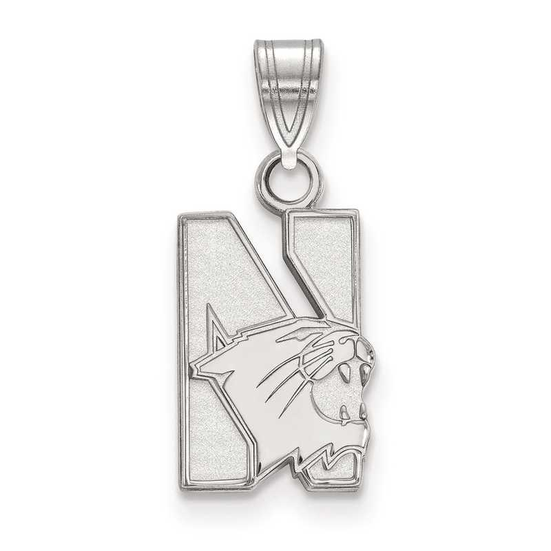 SS001NWU: SS LogoArt Northwestern University Small Pendant