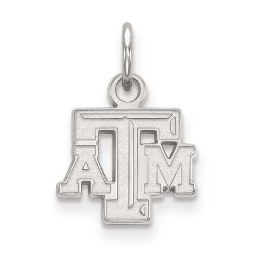 SS001TAM: SS LogoArt Texas A&M University XS Pendant