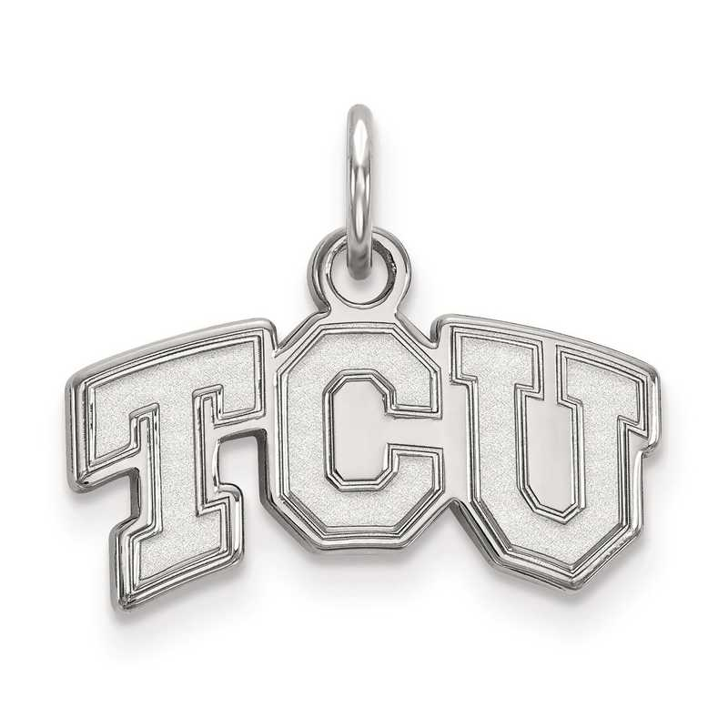 SS001TCU: SS LogoArt Texas Christian University XS Pendant