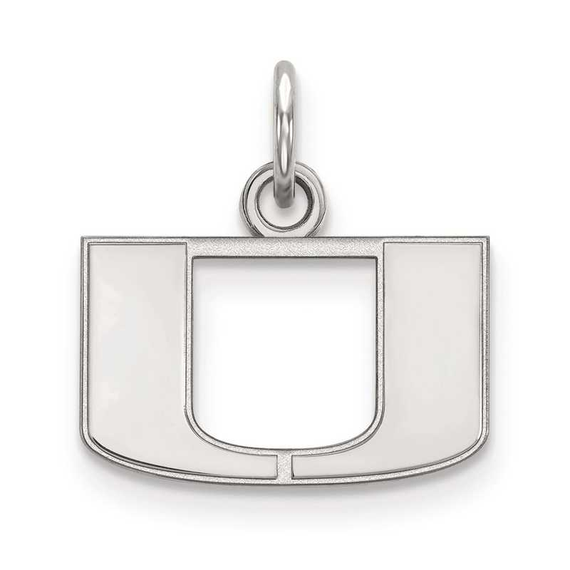 SS001UMF: SS LogoArt University of Miami XS Pendant