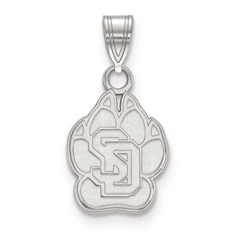 SS001USD: SS LogoArt University of South Dakota Small PEND