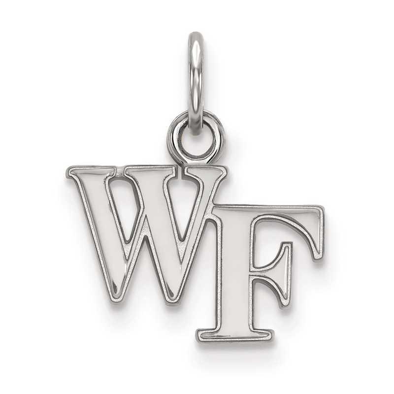 SS001WFU: SS LogoArt Wake Forest University XS Pendant