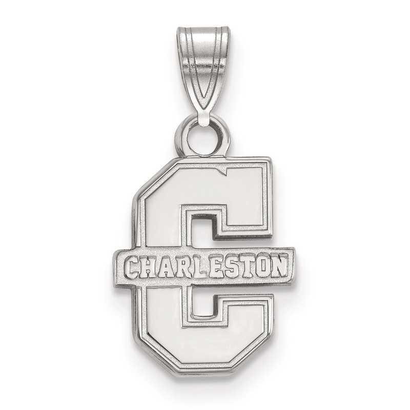 SS002CHC: SS LogoArt College of Charleston Small Pendant