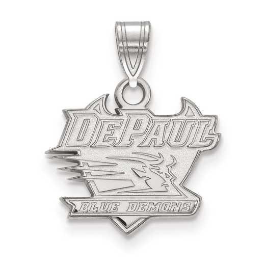 SS002DPU: SS LogoArt DePaul University Small Pendant