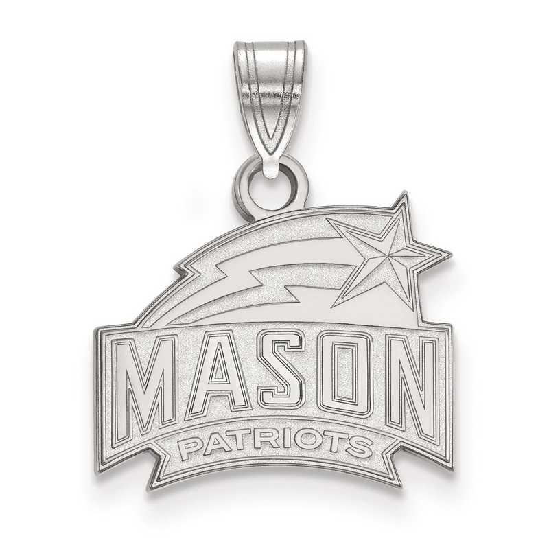 SS002GMU: SS LogoArt George Mason University Small Pendant