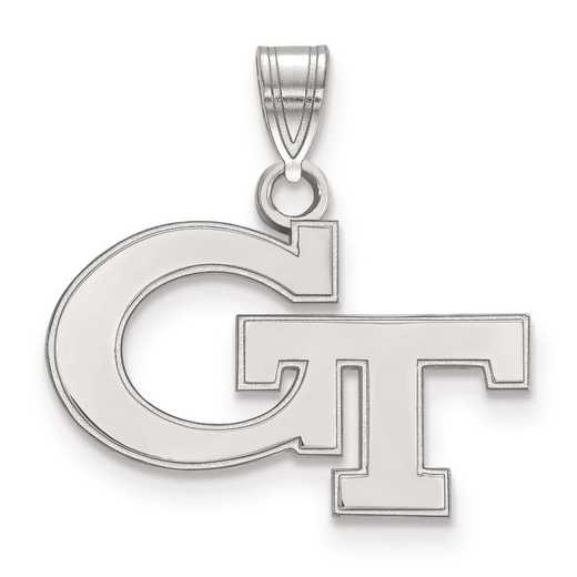 SS002GT: SS LogoArt Georgia Institute of Technology Small Pendant