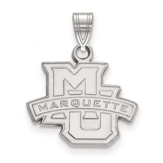 SS002MAR: SS LogoArt Marquette University Small Pendant