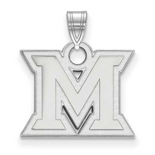 SS002MU: SS LogoArt Miami University Small Pendant