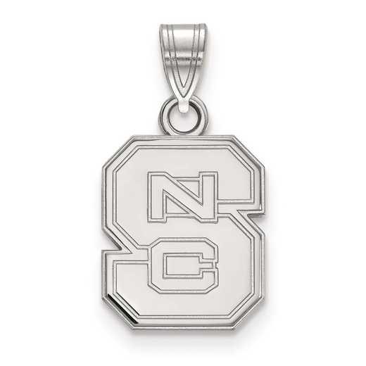 SS002NCS: SS LogoArt North Carolina State University Small Pendant