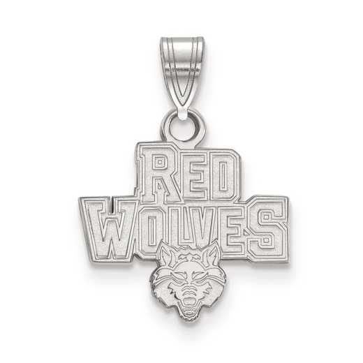 SS005ASU: SS LogoArt Arkansas State University Small Pendant