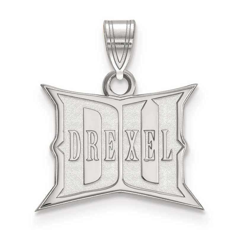 SS005DRE: SS LogoArt Drexel University Small Pendant